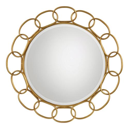 Circulus Round Mirror - Gold