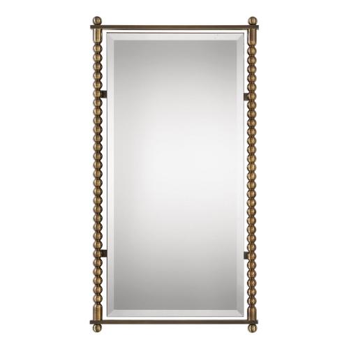 Rosabel Rectangle Mirror - Antique Brass