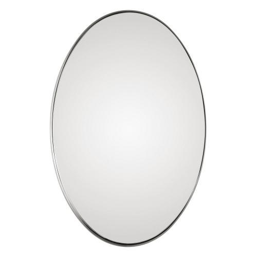 Pursley Oval Mirror - Brushed Nickel