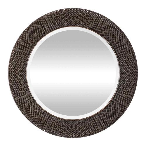 Aziza Round Mirror - Bronze