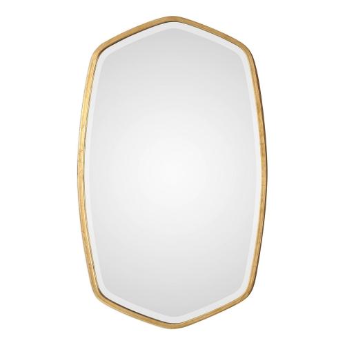 Duronia Mirror - Antiqued Gold