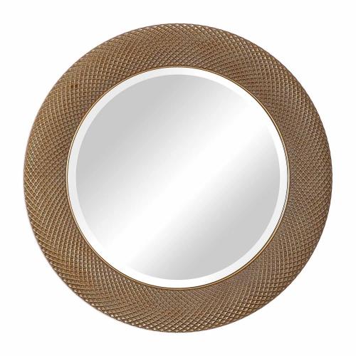 Aziza Round Mirror - Gold