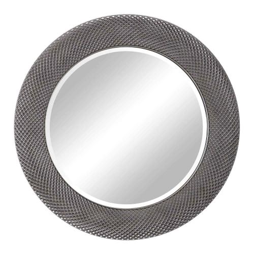 Aziza Round Mirror - Silver