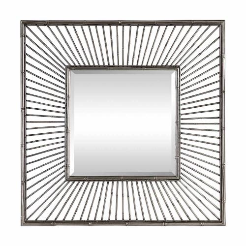 Anji Square Mirror - Silver