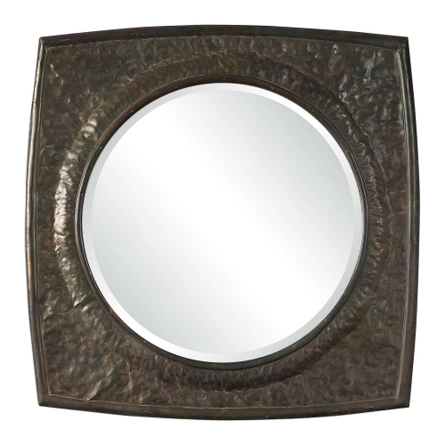 Hadeon Hammered Iron Mirror