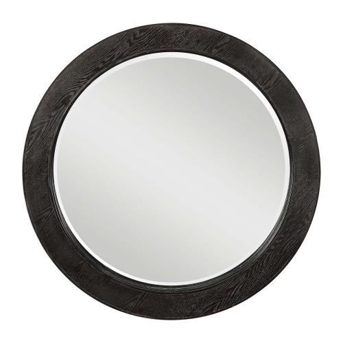 Ramere Round Mirror - Ebony