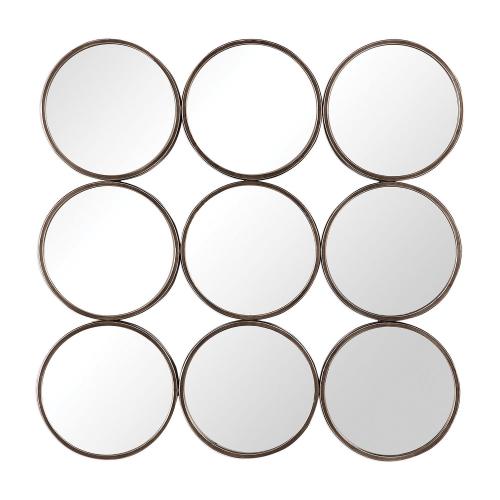 Devet Rings Mirror - Welded Iron