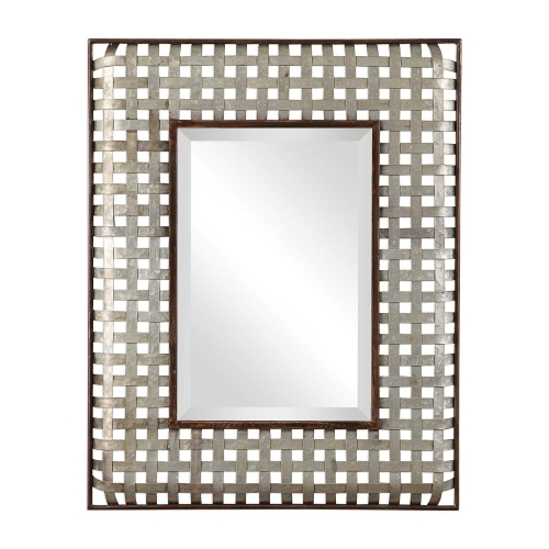Fabelle Mirror - Galvanized Metal