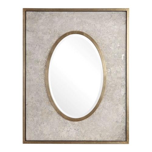 Gabbriel Oval Mirror - Aged