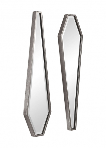 Sabera Modern Mirror - Set of 2 - Silver