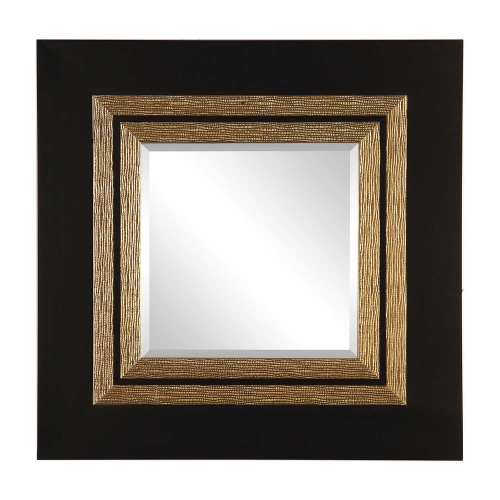 Faisal Square Mirror - Black