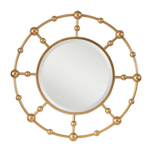 Selim Round Mirror - Gold