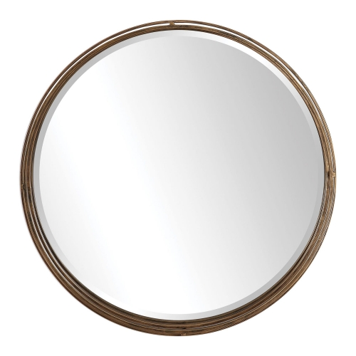 Cannon Round Mirror - Gold