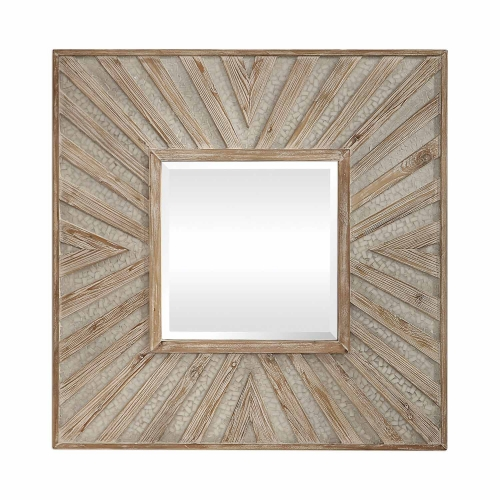 Gideon Square Mirror - Wood/Ivory
