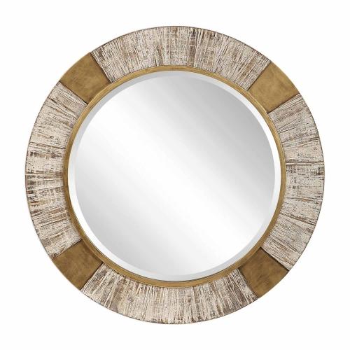 Reuben Round Mirror - Gold