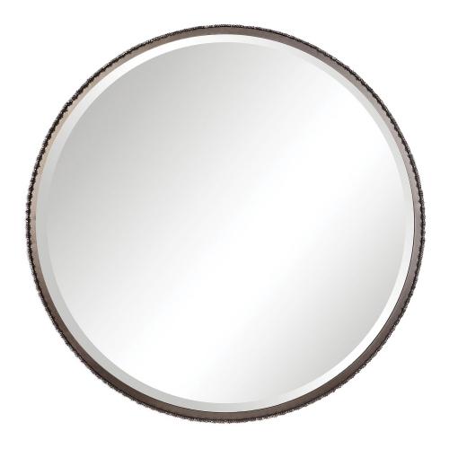 Ada Round Steel Mirror