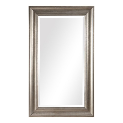 Palia Leaf Wall Mirror - Silver