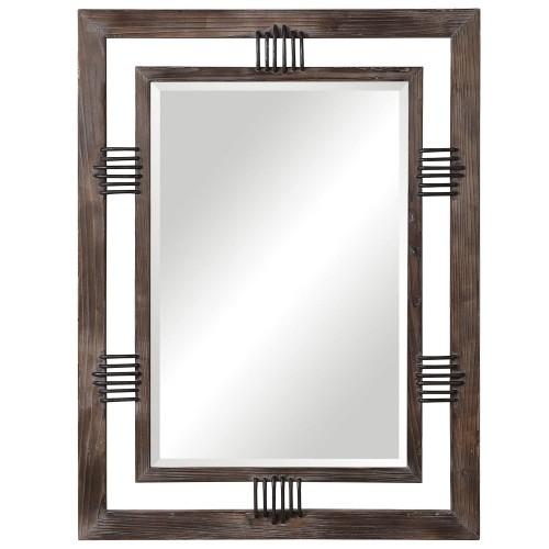 Ebbe Farmhouse Mirror - Rustic