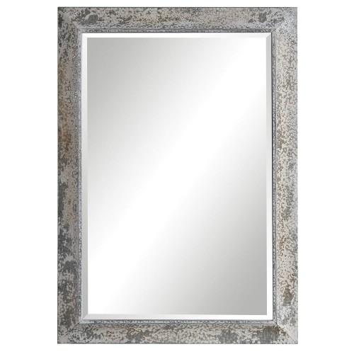 Raffi Mirror - Aged Silver