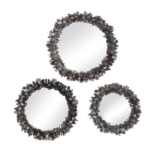 Galena Round Mirrors - Set of 3