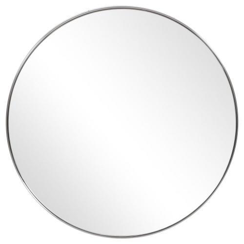 Coulson Round Mirror - Nickel