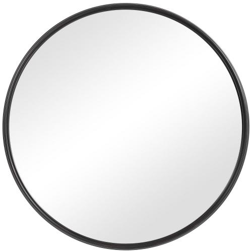 Belham Round Iron Mirror