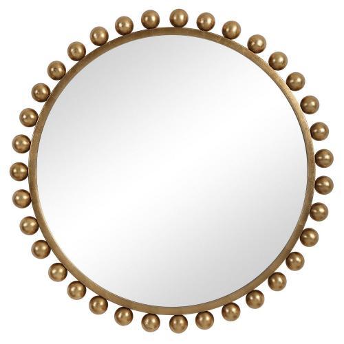 Cyra Round Mirror - Gold