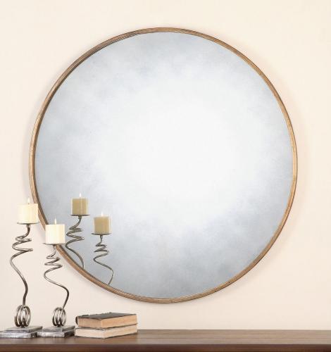 Junius Round Gold Mirror