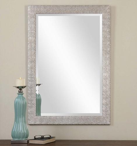 Porcius Antiqued Silver Mirror