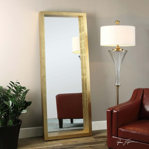 Edmonton Gold Leaner Mirror