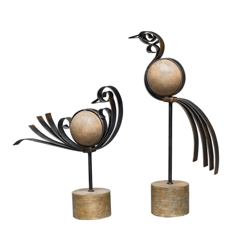 Anvi Bird Sculptures - Set of 2