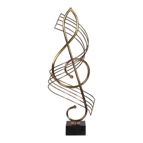 Score Brass Musical Sculpture