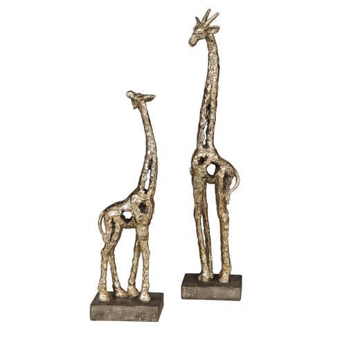 Masai Giraffe Figurines - Set of 2
