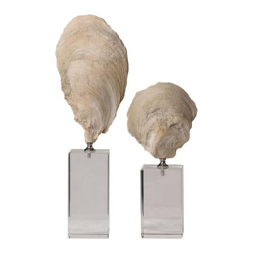 Oyster Shell Sculptures - Set of 2