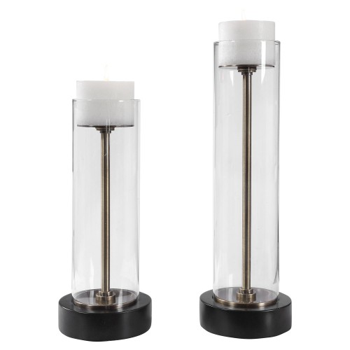 Charvi Glass Candleholders - Set of 2