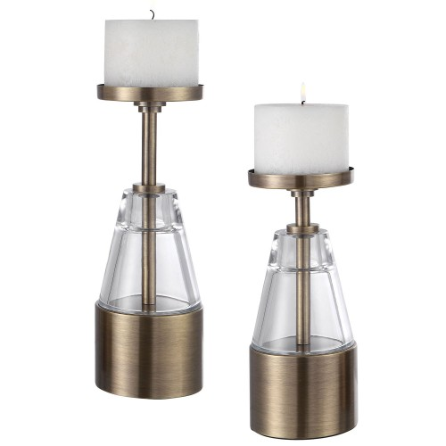 Theirry Crystal Candleholders - Set of 2