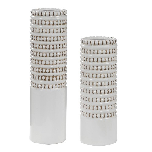 Angelou Vases - Set of 2 - White