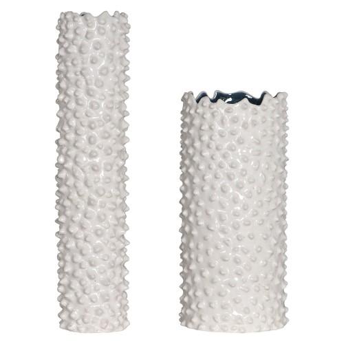 Ciji Vases - Set of 2 - White