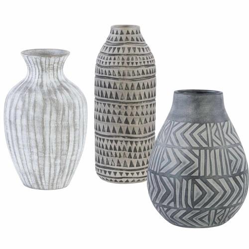 Natchez Geometric Vases - Set of 3