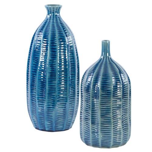 Bixby Vases - Set of 2 - Blue