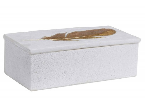 Nephele Stone Box - White