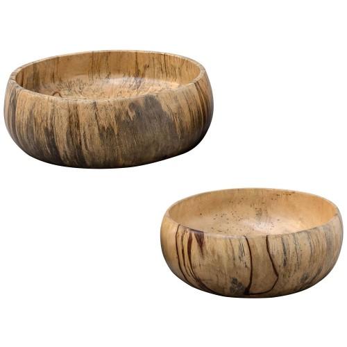 Tamarind Wood Bowls - Set of 2
