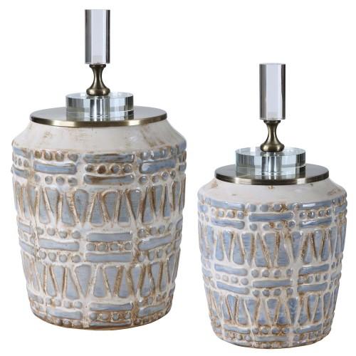 Lenape Ceramic Bottles - Set of 2