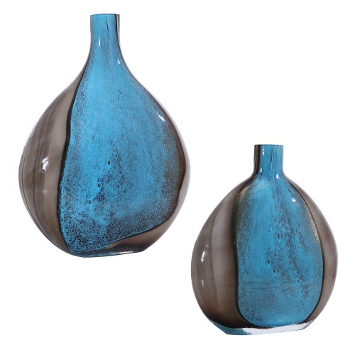 Adrie Art Glass Vases - Set of 2