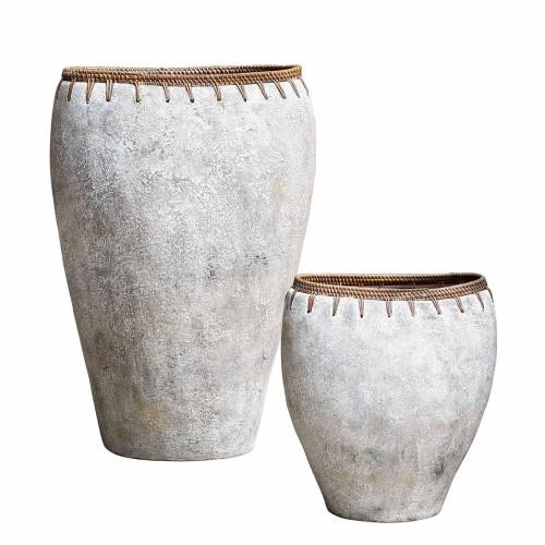 Dua Terracotta Vases - Set of 2