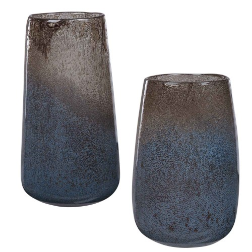 Ione Seeded Glass Vases - Set of 2