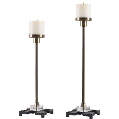 Montag Candleholders - Set of 2 - Brass