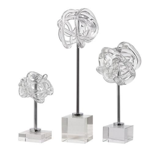 Neuron Glass Table Top Sculptures - Set of 3