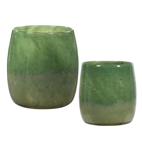 Matcha Glass Vases - Set of 2 - Green