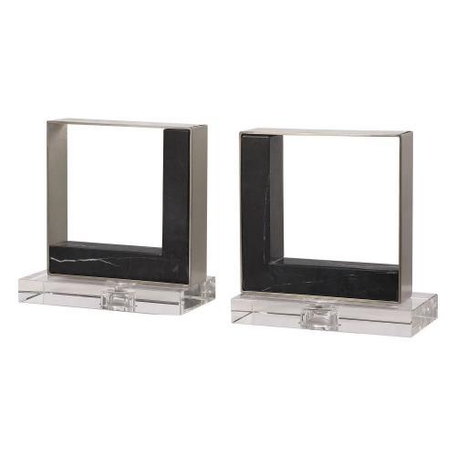 Tilman Modern Bookends - Set of 2 - Marble